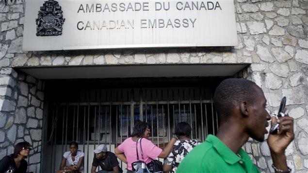 Ambassade du Canada en Haïti. Photo Credit: AFP/Marco DORMINO