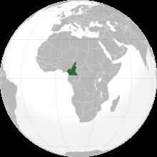 Le Cameroun en Afrique.