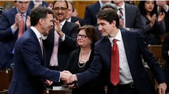 Bill Morneau et Justin Trudeau le 19 octobre dernier. PC