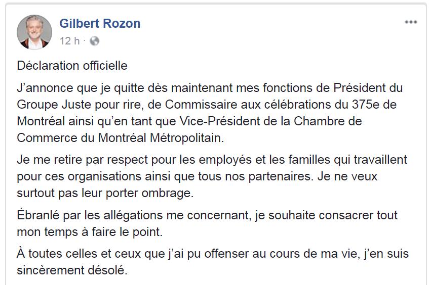 Gilbert Rozon : visé par un scandale sexuel, son futur incertain à M6