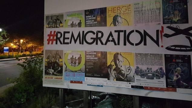 Avec son message «Remigration» le groupe Atalante par exemple souhaitait une inversion du flux migratoire et que les demandeurs d'asile retournent chez eux.