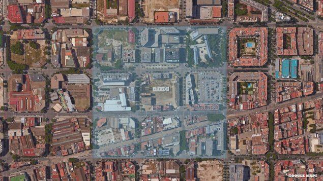 Ce plan de mobilité urbaine proposé par les autorités de la capitale catalane en 2014 est doté à sa base de super-blocs érigés en série et composés chacun de neuf pâtés de maisons traditionnels.