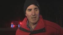 Vincent Di Pinto, témoin de l'accident. Photo : Radio-Canada/Tony Smyth