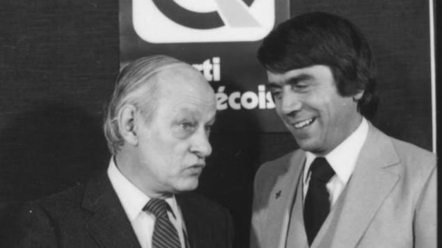 René Lévesque et François Gendron lors de ses début en politique provinciale - RC