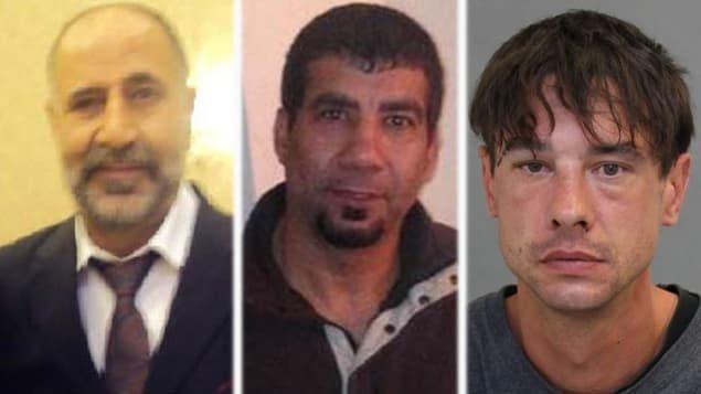 Trois autres victimes présumées (g. à d.): Majeed Kayhan, Soroush Mahmudi et Dean Lisowick. Photo : Police de Toronto