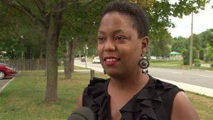 La militante pour les droits des noirs Rachel Décoste en 2015.