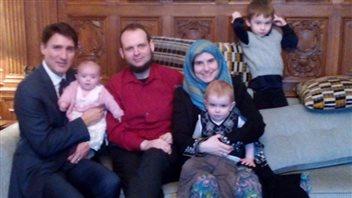Joshua Boyle et sa famille ont rencontré le premier ministre Justin Trudeau le 19 décembre. (@ Boylesvsworld / Twitter)