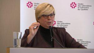La présidente de l'Ordre des infirmières, Lucie Tremblay - Photo: Radio-Canada