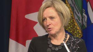 Rachel Notley, première ministre de l'Alberta. Photo: Radio-Canada.