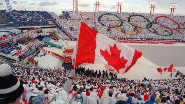 La cérémonie d'ouverture des Jeux olympiques de Calgary de 1988