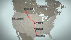 Tracé du projet de pipeline.