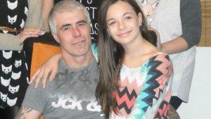 Alain Gervais et sa fille Athena Gervais. Photo : Famille Gervais