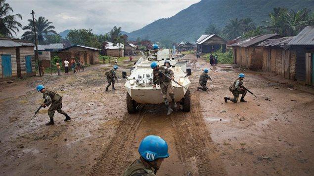 Des casques bleus déployés en République démocratique du Congo. Photo Credit: UN Photo/Sylvain Liechti