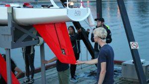 Sailbot arrive à Terre-Neuve en 2016 - PHOTO : UBC
