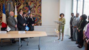 Discours de Michaëlle Jean, Secrétaire générale de la Francophonie à Paris le 3 mars 2015 - Photo OIJQ