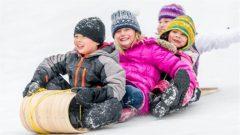 Des enfants font de la luge Photo : iStock/CEFutcher