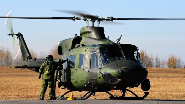 Un hélicoptère Griffon CH-146 des Forces canadiennes