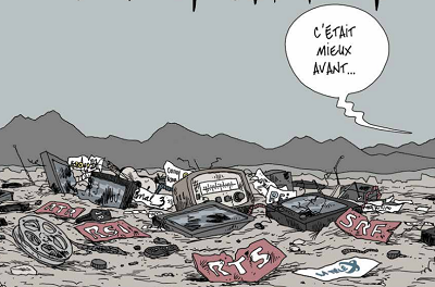 Destruction de la radio-télédiffusion publique en Suisse? Photo : CultureEnjeux.ch