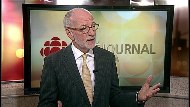 Le président-directeur général de CBC/Radio-Canada, Hubert Lacroix, en entrevue à Winnipeg au Manitoba lundi 28 septembre 2015. Photo Credit: ICI Radio-Canada