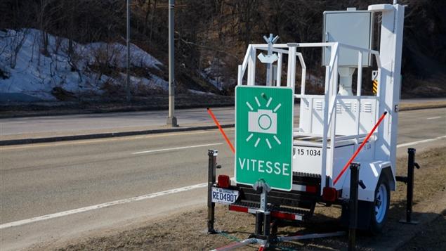 Un photo radar au Québec. Photo : Radio-Canada