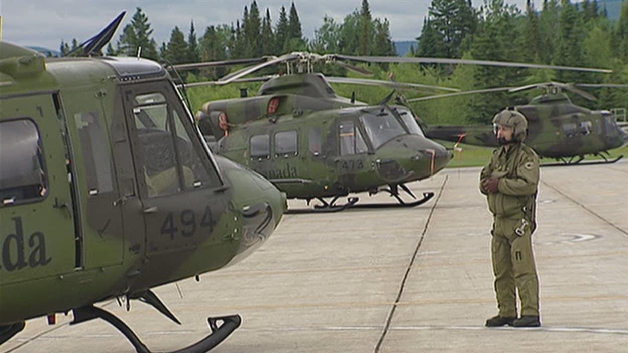 Hélicoptères de type Griffon Photo : ICI Radio-Canada