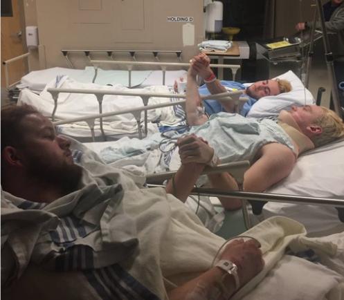 Trois des blessés - Photo : RJ Patter - Twitter