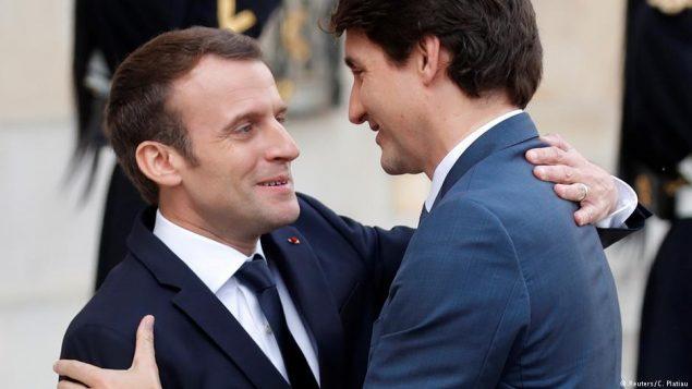 Emmanuel Macron et Justin Trudeau - Photo : Reuters
