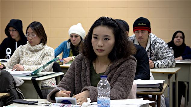 Des immigrants inscrits dans un cours de francisation.
