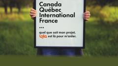 Un pancarte de LOJIQ qui incite les jeunes Québécois de 18 à 35 ans à réaliser leurs projets.