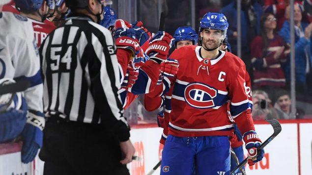 Max Pacioretty alors qu'il était capitaine du Canadien de Montréal.