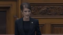 La ;députée franco-ontarienne Amanda Simard qui siège désormais comme indépendante.