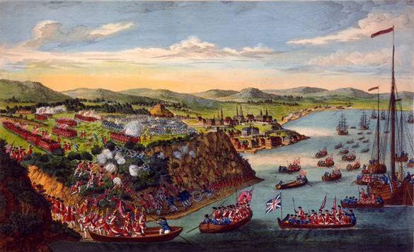 Tableau illustrant la bataille des Plaines d'Abraham/Archives Canada