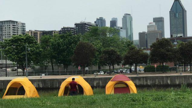 Initiation au camping en plein coeur de Montréal - Photo : Samir Bendjafer
