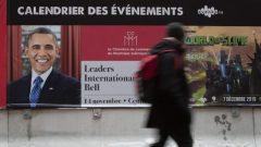 C'est le deuxième passage à Montréal du 44e président des États-Unis, après celui de juin 2017 - Photo : Radio Canada / Ivanoh Demers