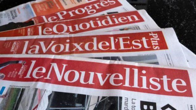 Le groupe Capitales Médias publie les quotidiens régionaux La Tribune, Le Quotidien, Le Soleil, Le Droit, La Voix de l'Est et Le Nouvelliste - Paul Chiasson / La Presse Canadienne