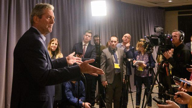 Brain Pallister, Prremier ministre du Manitoba, s'exprimant en point de presse à Winnpeg aujourd'hui 20 janvier 2020 - La Presse Canadienne / Mike Sudoma