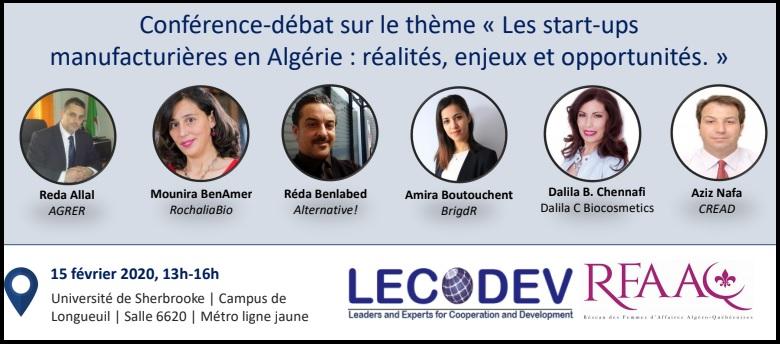 L'affiche de l'événement - LECODEV/RFAAQ
