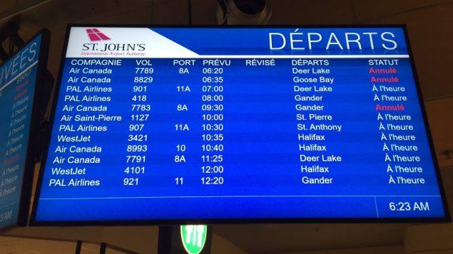Les vols ont repris à l'aérport international de Saint-Jean - 22.01.2020 22 - Adam Walsh / CBC