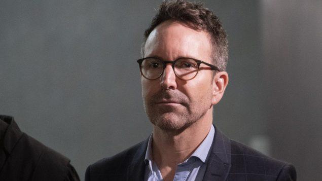 l'animateur déchu Éric Salvail au Palais de Justice de Montréal ce 17 février 2020 - La Presse Canadienne / Paul Chiasson
