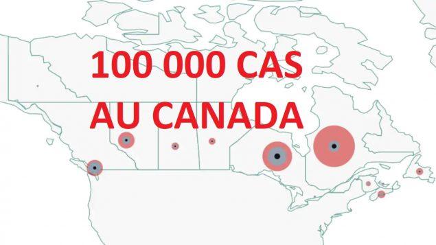 COVID-19 : bientôt 100 000 cas au pays et 90 % sont en Ontario et au Québec