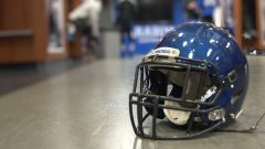 le casque de l'équipe de football Carabins de l'Université de Montréal