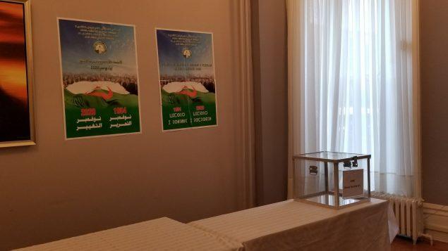 Bureau de vote prêt au niveau du consulat d'Algérie à Montréal - Photo : CGAM