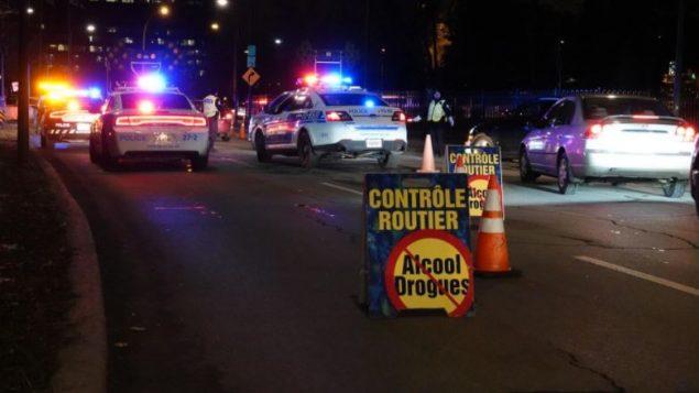 Les policiers seront plus visibles sur les routes du Québec jusqu'au 4 janvier - Photo (archives) : Radio Canada / Alain Béland