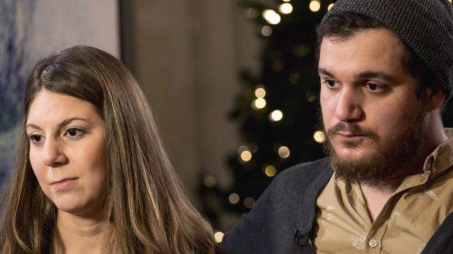 Megda et Amir Belkacemi, les enfants d'une des victimes de l'attentant contre la mosquée de Québec, Khaled Belkacemi - Photo : Radio-Canada / Maxime Corneau