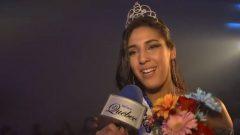 Nawel Ouchene lors de la soirée finale de Miss Québec en mars dernier - Photo/Youtube