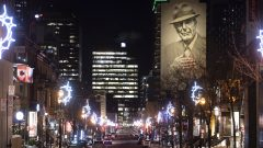 Une rue de Montréal, au premier jour du couvre-feu pour freiner la vague de la COVID-19 au Québec - 09.01.2021 - La Presse Canadienne / Graham Hughes