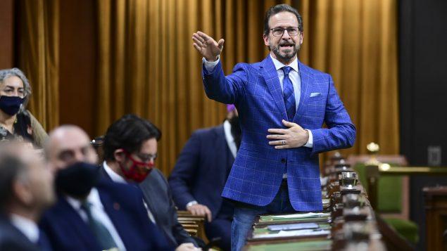 La motion demandant au gouvernement l'octroi de la citoyenneté canadienne à Raif Badawi a été proposée par le Bloc québécois - Sur la photo : Yves-François Blanchet, chef du Bloc québcois - Ottawa / 26.01.2021 / La Presse Canadienne / Sean Kilpatrick
