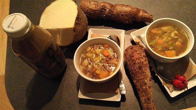 La soupe de la deuxième semaine du Mois de l'histoire des Noirs : soupe à Congo (Guadeloupe)     Photo : Radio-Canada/Michel Harvey