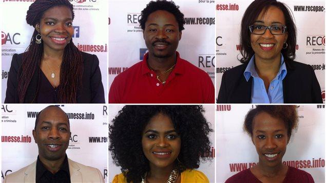 Quelques uns des lauréats 2016 du Réseau de Communication pour la Prévention des Actes Criminels Photo : RECOPAC