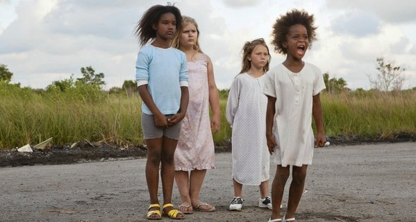 "Actress Quvenzhane Wallis as ""Hushpuppy"" on the set of the movie BEASTS OF THE SOUTHERN WILD. Photo Credit: Jess Pinkham"